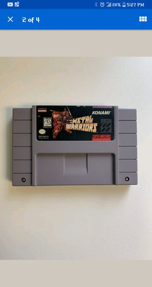 *MINT* METAL WARRIORS *RARE* SNES Game collectable for Sale in Columbus, OH