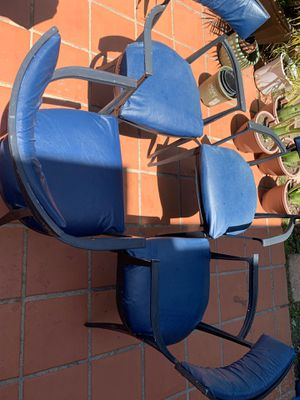 Four antique chairs solid cast iron patio furniture for Sale in El Cajon, CA