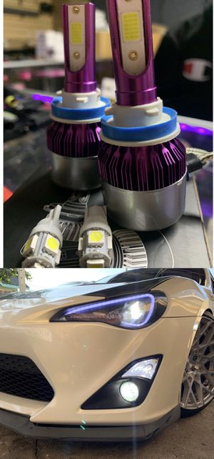 Led headlights plug and play warranty free license plate LEDs with purchase 25$ pair for Sale in Los Angeles, CA