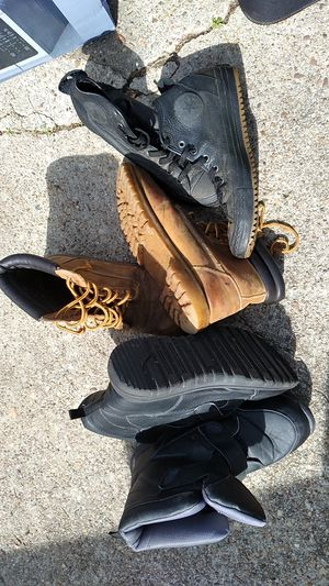 Work boots 5.00 ea they have been worn but still have some tread on them. for Sale in Hampton, VA