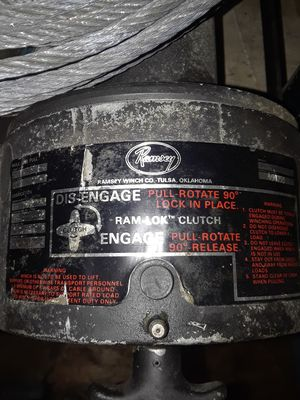 Ramsey winch model number 2000 12 for Sale in Pinellas Park, FL