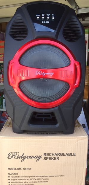 Eight inch Rechargeable Bluetooth speaker/aux/Fm/USB and SD port/many styles available!! Brand new!! for Sale in Moreno Valley, CA