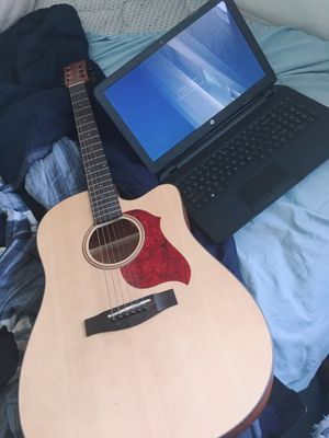 Acoustic guitar, laptop computer, and a bran new roller... for Sale in Portland, ME