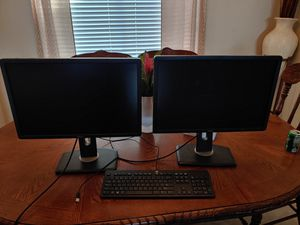 """Two 24"""" DELL screens with Keyboard for Sale in Gilbert, AZ"""