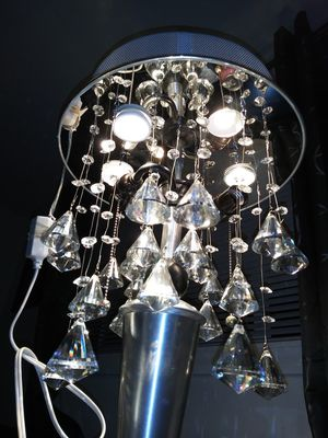 Diamond faceted crystal pendant chandelier for Sale in Portland, OR