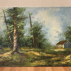 MCM Large Vintage Oil Pndscape Painting for Sale in Seattle, WA