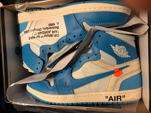 Ds Jordan 1 off white UNC sz 9 for Sale in Bakersfield, CA