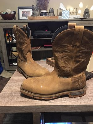 Red wing Irish setter water proof work boots size 11s for Sale in Dallas, GA