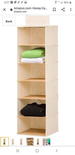 6 shelf hanging closet organizer -grey for Sale in Marysville, WA