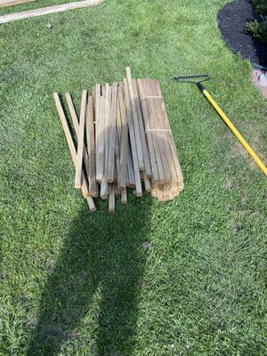 """1.5"""" x 1.5"""" x 42"""" pressure treated deck spindles $30 for about 50 spindles for Sale in Templeton, MA"""