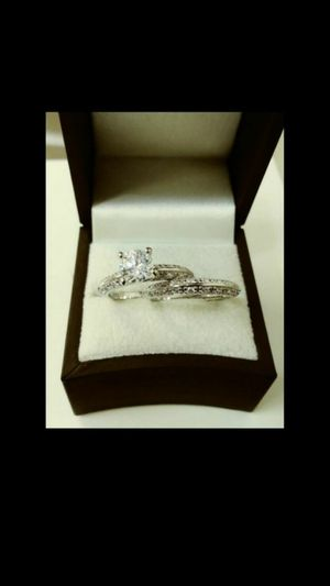 New with tag Solid 925 Sterling Silver ENGAGEMENT WEDDING Ring Set size 6 / 7 or 8 $150 set OR BEST OFFER ** WE SHIP!!📦📫 ** for Sale in Phoenix, AZ