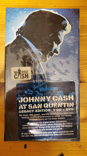 Johnny Cash at San Quentin Legacy Edition 2 CD + DVD, Brand New & Factory Sealed for Sale in Royersford, PA