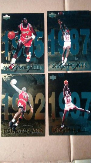 Michael Jordan Cards also have baseball and basketball and football cards send list of want cards for Sale in San Antonio, TX