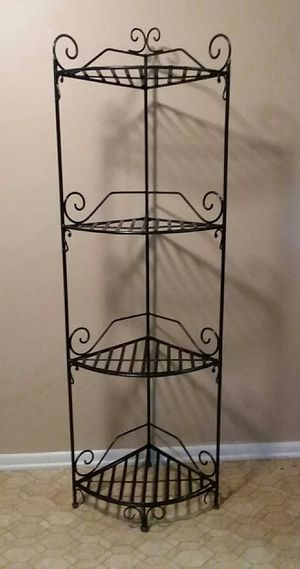 (Huge) Heavy Duty/Wrought iron Corner Rack (Excellent Used Condition) for Sale in Birmingham, AL