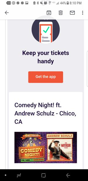 Comedy club Andrew Schulz for Sale in Chico, CA