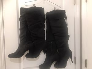 Women's black suede boots size 10 for Sale in Riverview, FL