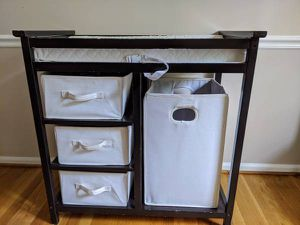 Espresso baby changing table for Sale in Silver Spring, MD