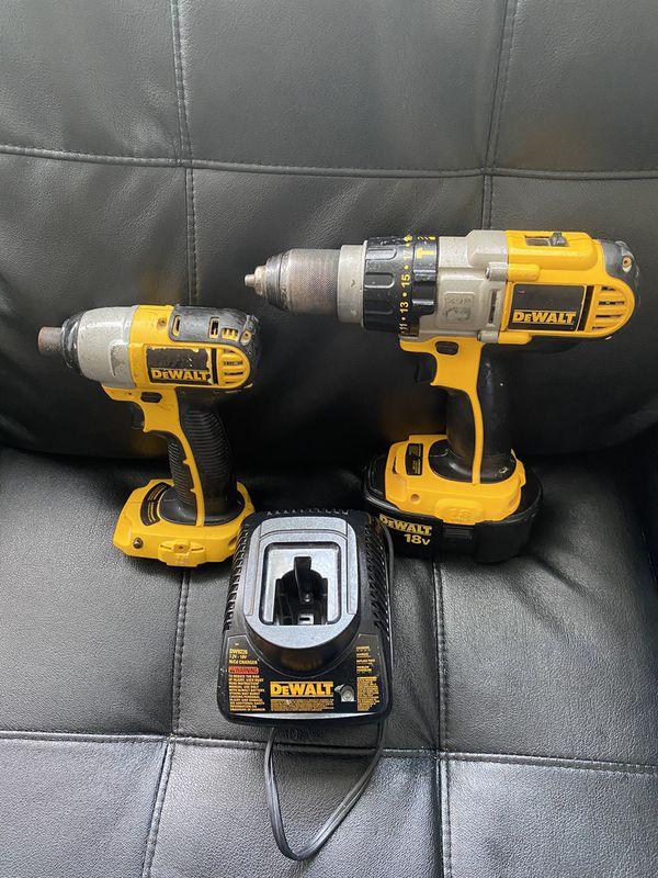 18v dewalt drills set only one battery solo una bateria