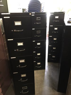 Black File Cabinets $60 for Sale in Mulberry, FL
