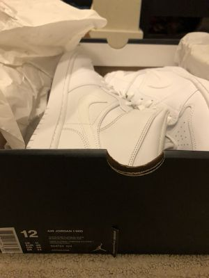 Air Jordan 1 MID white sz 12 for Sale in Seattle, WA
