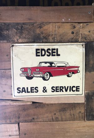 """(Ford) Edsel Sales & Service 8.5"""" X 11.5"""" sign for Sale in Appleton, WI"""