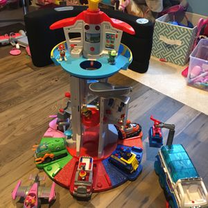 Paw Patrol Lookout Tower With Exclusive Vehicles And Characters for Sale in Lexington, SC