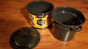 3 piece stock pot, steamer, strainer and lid for Sale in Philadelphia, PA