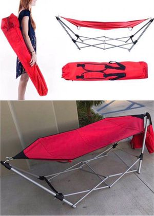 New in box 264 lbs capacity Portable Folding Steel Frame beach park camping Hammock with carrying bag for Sale in Los Angeles, CA