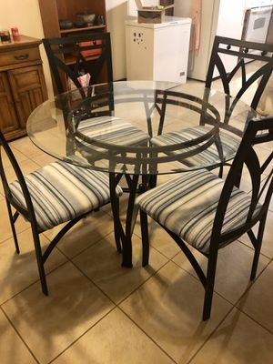 Glass top table for Sale in Lancaster, WI