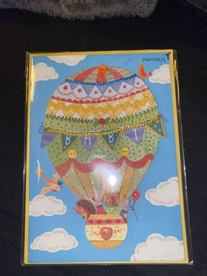 NEW in plastic 3D PAPYRUS congrats new baby card for Sale in Vallejo, CA