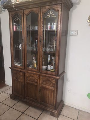 Antique Wooden China Cabinet for Sale in Las Vegas, NV