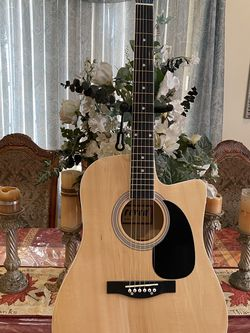 natural fever acoustic guitar with metal strings for Sale in Bell Gardens,  CA
