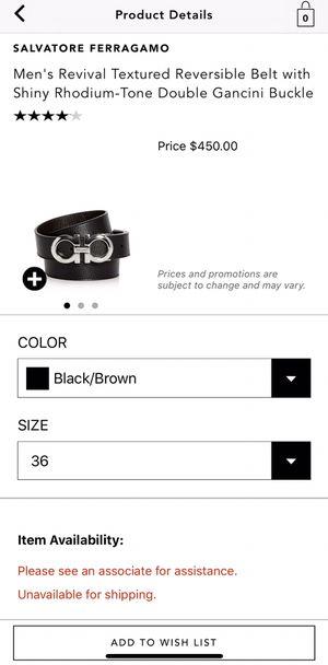 Salvatore Ferragamo Reversible Belt for Sale in Chicago, IL