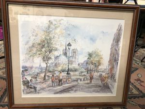 """Paris-I'Ile St. Louis et Notre Dame"" by Tegai watercolor print for Sale in Frostproof, FL"