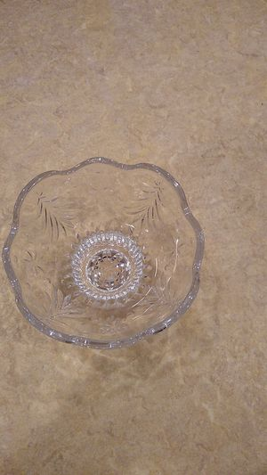 Glass candy dish (holiday themed) for Sale in Weymouth, MA
