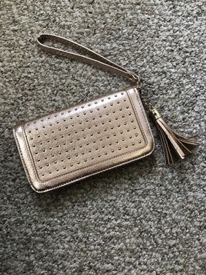 Rose gold studded wallet for Sale in Clinton, CT