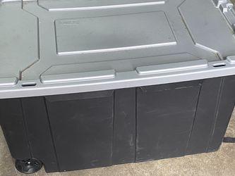 "Sterilite Tote Box 3 Feet Long X 20 "" Wide On Wheels for Sale in Los Angeles,  CA"
