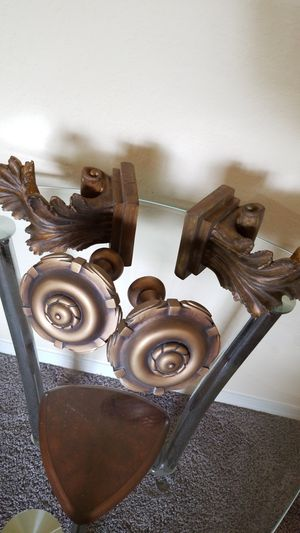 Curtian Holders/Candle Wall Decor for Sale in Brandon, FL