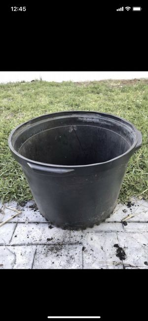 """giant blow mold tree planter 18"""" High x 24"""" diameter $12 for Sale in Pembroke Pines, FL"""