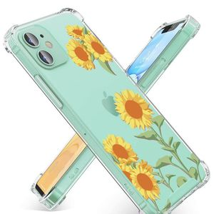 OTBBA Clear Floral Pattern Case for iPhone 12 Mini [5.4 Inch 2020], [Anti-Yellowing] Flexible TPU Shockproof Protective Cover Case for Girls Women, Co for Sale in Ontario, CA