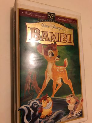 Disney Bambi masterpiece vhs for Sale in Fontana, CA