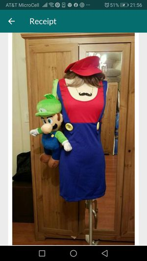 Super Mario's Bros Costume with Luigi backpack for Sale in Aliso Viejo, CA