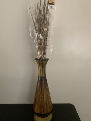 Brown Vase w/sticks and flowers for Sale in Seattle, WA