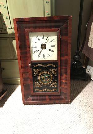 Antique 30 Hour E.L Welch Brass Clock Circa 1850's with original manufacturer's sticker. for Sale in Kirkland, WA