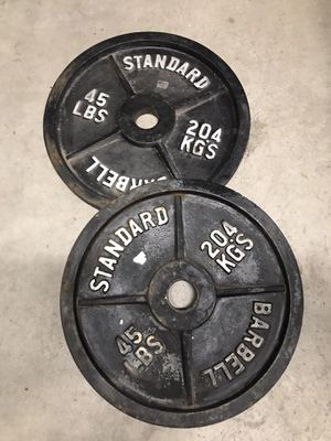 45lbs weight plates for Sale in Plano, TX