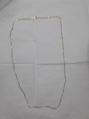 24 inch real silver dipped in 14kt gold thin Figaro Link chain great gift 100 obo for Sale in Mechanicsburg, PA