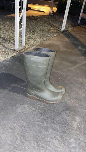 Dark green rain boots for Sale in Montclair, CA
