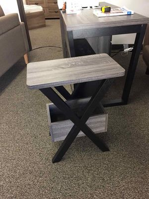 Alison ChairSide/End Table, Distressed Grey and Black, SKU # 161861 for Sale in Santa Fe Springs, CA