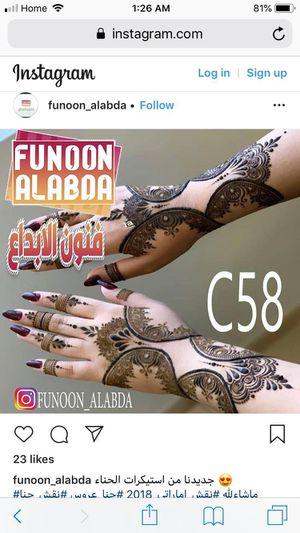 Henna , نقشات حناء for Sale in Detroit, MI