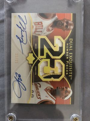 Michael Jordan and LeBron James autograph card Plus few thousand football cards for Sale in Chicago, IL
